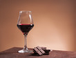 Red wine glass and chocolate - 80609461