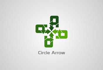 Circle Arrow Logo Vector..