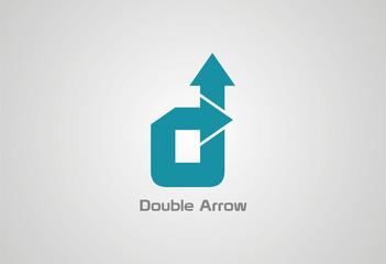 Double Arrow Logo Vector..