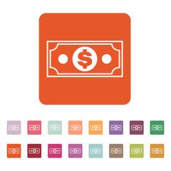 The money icon. Dollar symbol. Flat