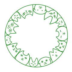 猫 円 コピースペース ライン