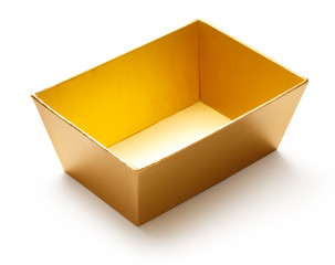 Empty golden box