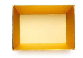 Empty golden box