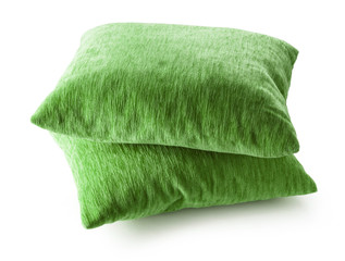 Soft blank green pillows