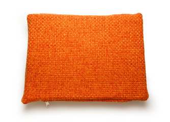 Soft blank orange pillow