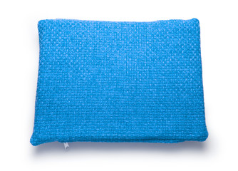 Soft blank blue pillow