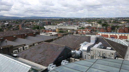 Dublin from the observation deck of Guinness Storehouse