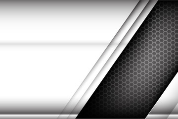 Metallic steel and honeycomb element background texture