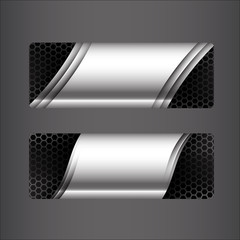 Collection of banner set - metallic steel and honeycomb element