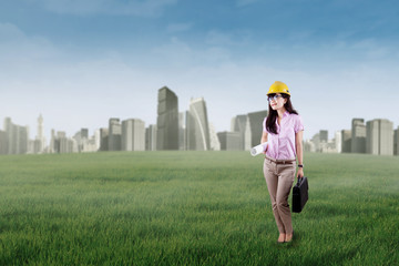 Successful engineer builds green city