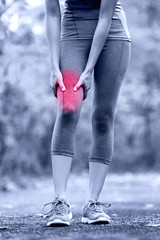 Muscle sports injury of female runner thigh