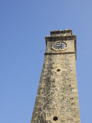 Old Clock Tower At Galle Dutch Fort In Sri Lanka
