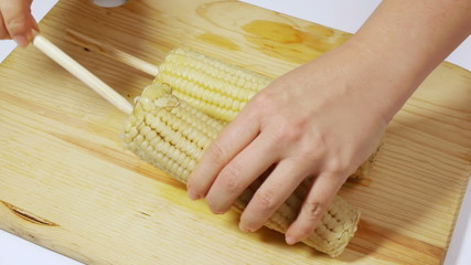 Preparing Mexican Traditional Corn