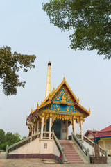 Crematory with sky background at wat klongha