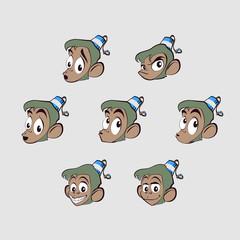 Different emotions monkey
