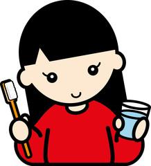 歯ブラシ・女の子