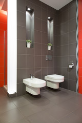 Grey restroom