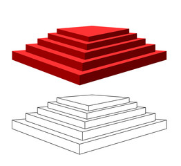 Pyramid with steps.