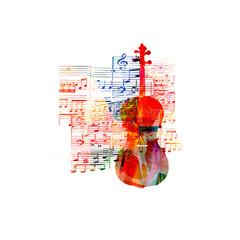 Colorful cello design