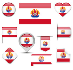 French Polynesia Flag Collection
