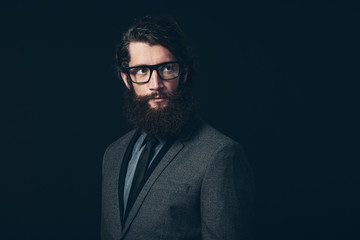 Gorgeous Man in Formal Fashion with Eyeglasses