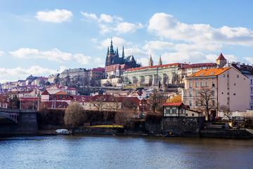 panorama view of Prague Castle, Czech Republic