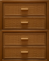 modern brown wooden drawers
