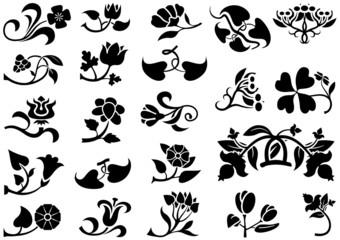 Flower Pictograms - Decorative Elements