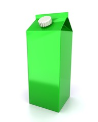 Green big blank juice pack