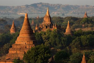 Temples of Bagan (Pagan) at sunrise, Myanmar