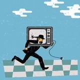 Resisting tv propaganda poster