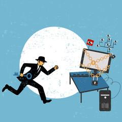 Virtual crime concept