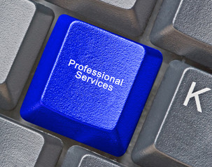 Keyboard with key for  professional services