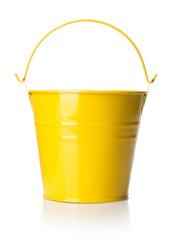 yellow metal bucket