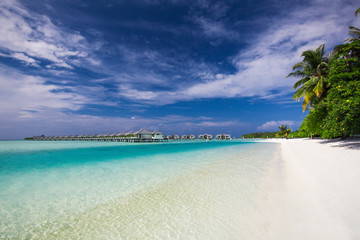 Water Villas on the Perfect Tropical Island in Maldives