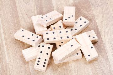 Pile of wood domino