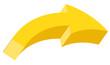 3d Yellow Arrow