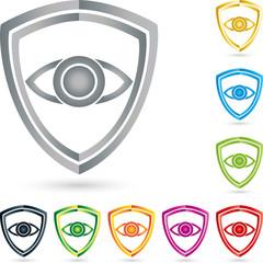 Logo, Auge, Schild, Wappen, Sammlung, Sicherheit