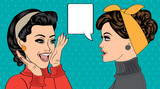 Fototapety pop art retro women in comics style that gossip