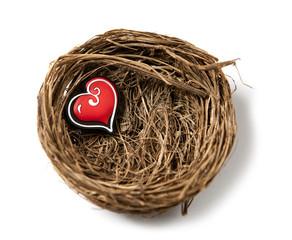 coeur dans un nid