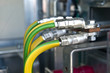 Leinwanddruck Bild - Cables at transformer station