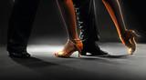 Fototapety Feet partners on black background