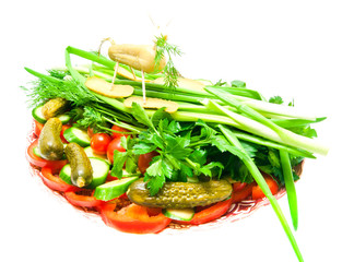 vegetables with figure of sheep