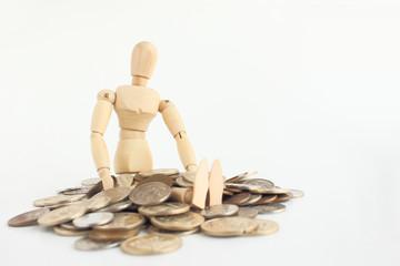 デッサン人形と小銭