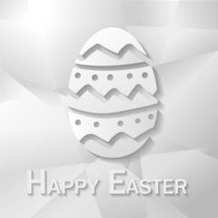 Osterei Happy Easter Papier Basteln Grußkarte Osterkarte