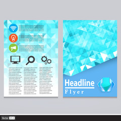 Abstract Triangle Flyer Design Vector Template.