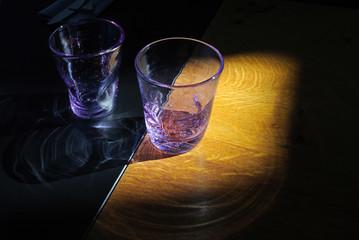 lila Wasserglas
