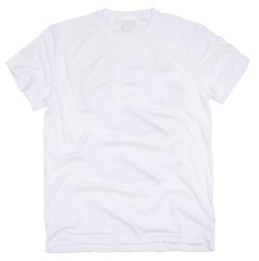 Men's t-shirt isolated on white background.