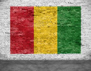 Reggae flag painted on  brick wall