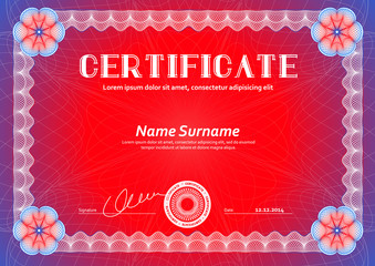 Template that is used in certificate, currency and diplomas